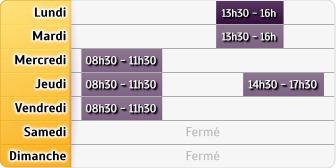 Horaires CAF - Le Havre