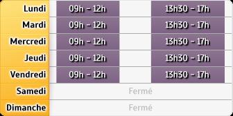 Horaires Banque de France - Lons-le-Saunier