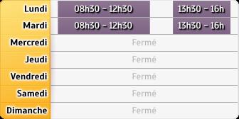 Horaires CAF - Clermont-l'Hérault
