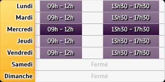 Horaires CAF - Évrecy