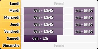 Horaires LCL - Le Moule