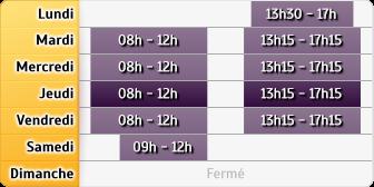 Horaires La Poste - Merigny