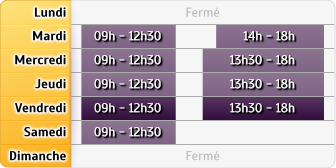Horaires CIC Fayence