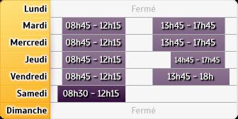 Horaires Caisse d'Epargne St-Georges Les Bains