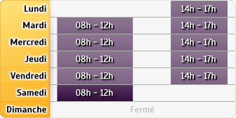 Horaires MMA Montbard