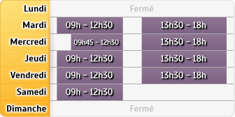 Horaires CIC - Lunel