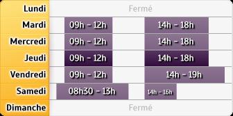 Horaires du Crédit Agricole Lesigny, Cour Villarceau