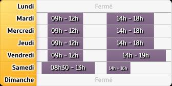Horaires du Crédit Agricole La Chapelle la Reine, 12, Place de la Republique