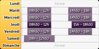 Horaires du Crédit Agricole Vizille, 35, Rue de la République