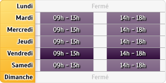 Horaires Jerome Pascal