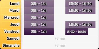Horaires du La Poste - Francs, 419, Rue des Francs