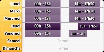 Horaires LCL Paris Trinite