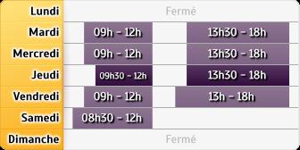 Horaires Credit Mutuel - Saint-Vallier
