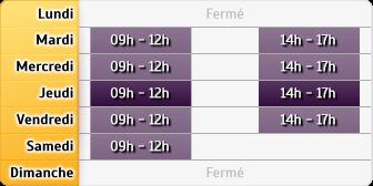 Horaires du Roussaly Gan Assurances Brassac, 14 Allee Du Chateau